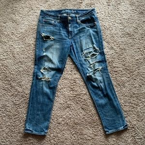 Slouchy Boyfriend Distressed jeans